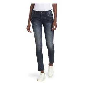 Rock Revival Skinny Zip Moto Jeans